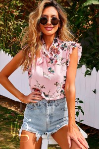 floral bow shirt
