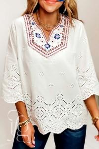 white crochet long
