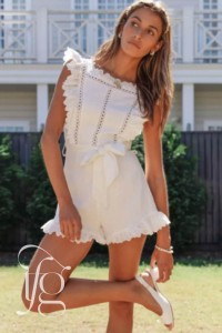 white girly jumpsuit