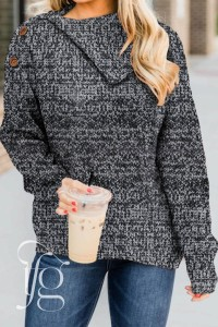 Gray Buttoned Cowl