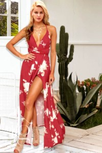 red maxi summer